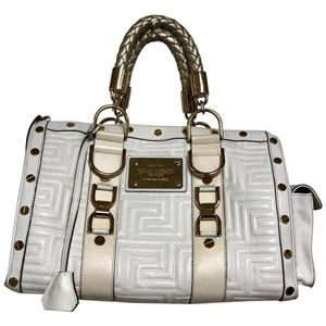 Versace Gianni Couture Quilted  Leather Satchel